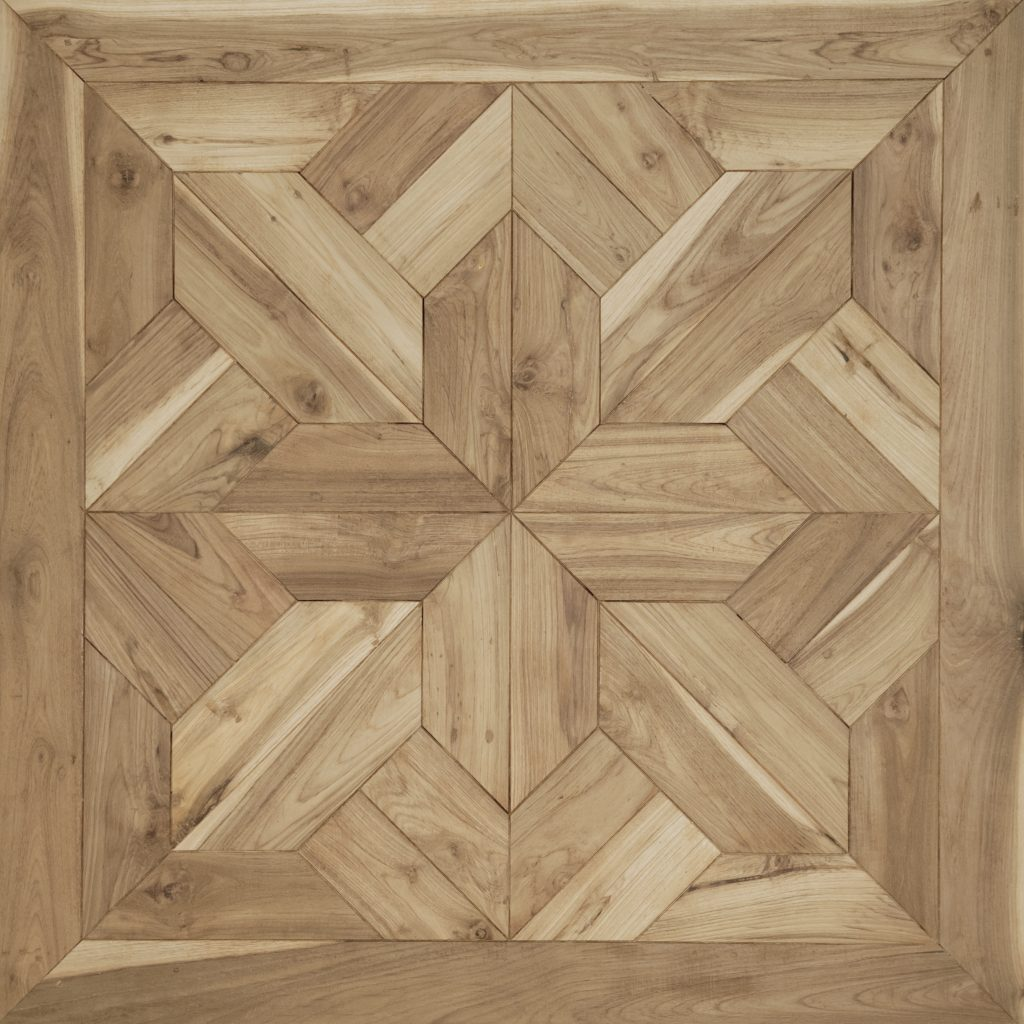 Antique teak tile 100x100x2 cm