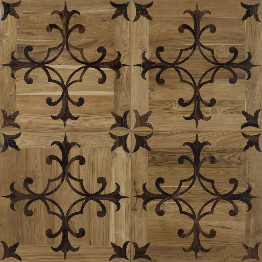 Inlaid antique teak-rosewood 70x70x1.8 cm